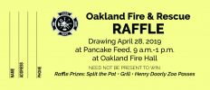Oakland Fire & Rescue Raffle Tickets